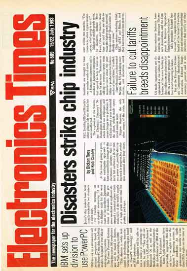 Electronics Times newspaper front page