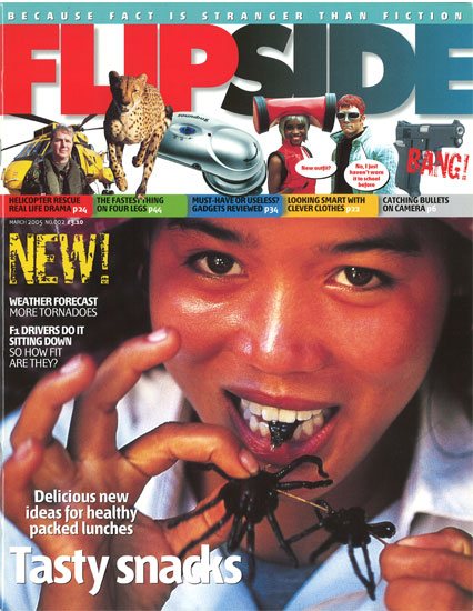 Girl eating spider cover