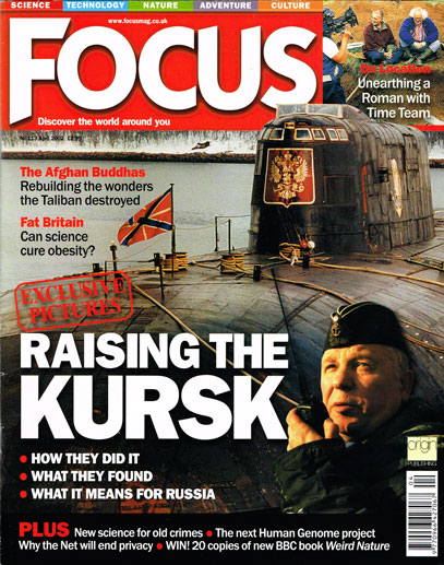 Focus magazine cover of the Kursk
